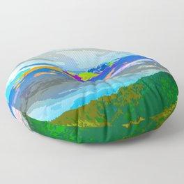 Mountain Color #mountain #illustration Floor Pillow