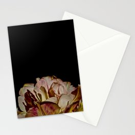 Bright Pink Tulip On Black Stationery Cards