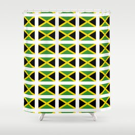 Flag of Jamaica 2-Jamaican,Bob Marley,Reggae,rastafari,cannabis,ganja,america,south america,ragga Shower Curtain