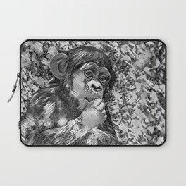 AnimalArtBW_Chimpanzee_20170605_by_JAMColorsSpecial Laptop Sleeve