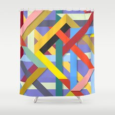 Abstract #225 Corners, Intersections & Dead Ends Shower Curtain