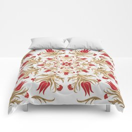 Turkish tulip - Ottoman tile 2 Comforters