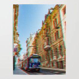 Tram in the historic district Poster