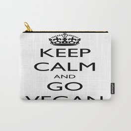 Keep Calm and Go Vegan Carry-All Pouch
