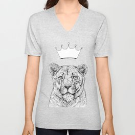 Lion Queen Unisex V-Neck