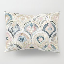 Art Deco Marble Tiles in Soft Pastels Pillow Sham