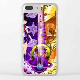 Sailor Mew Guitar #46 - Sailor Saturn & Mew Pudding Clear iPhone Case