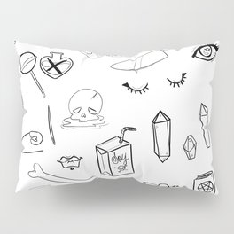 creepy cute witchy pattern Pillow Sham