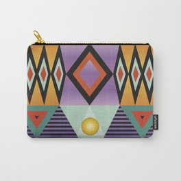 Print bright colorfull geometry Carry-All Pouch