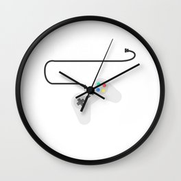 30 th Birthday Celebration Gift Level 30 Complete Born in 1990 Funny Gamer Party Birth Anniversary Wall Clock