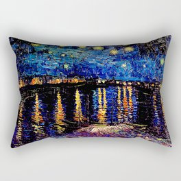 Over the rhone(starry night) Rectangular Pillow