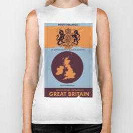 Vintage Map Cover of Great Britain. Biker Tank