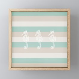 3 seahorses Framed Mini Art Print