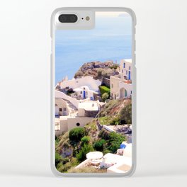 Santorini Charm Clear iPhone Case