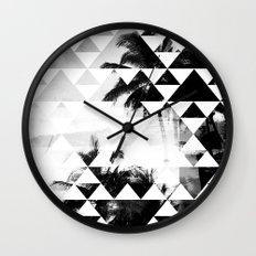 Monochromatic Island Wall Clock