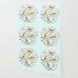 Special Springtime Delivery From Little Birds Pattern Wallpaper