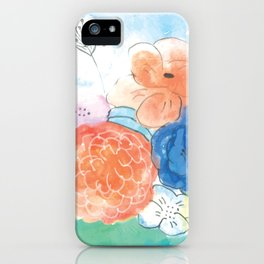 Watercolor and Ink Floral Bouquet iPhone Case