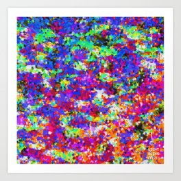 Colorful Rainbow Abstract Photo Design (Moon Journal Designs - #1 - Safe Happy Space) Art Print