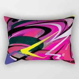 PAGER Mural Abstract Royal Stain Rectangular Pillow