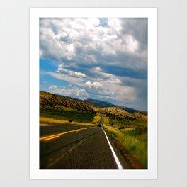 Tilted Road Trip Art Print