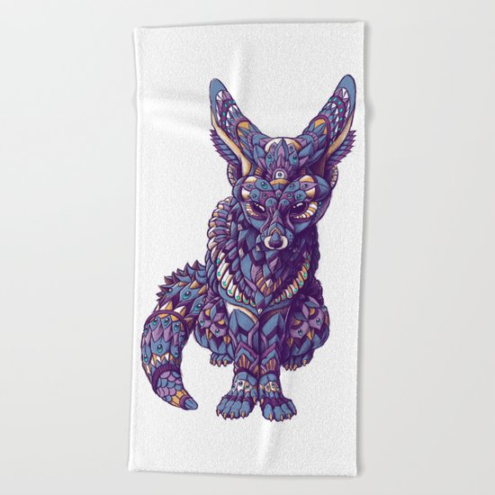 Fennec Fox (Color Version) Beach Towel