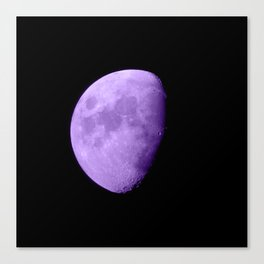 4K Dark Side of the Moon Violet Canvas Print