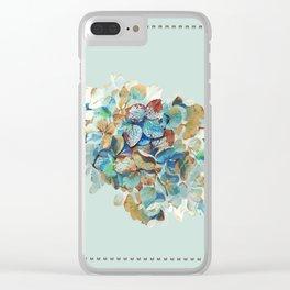 SEAFOAM Hortensia Clear iPhone Case