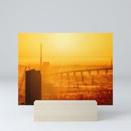 Burning Sunset Through Smog Mini Art Print