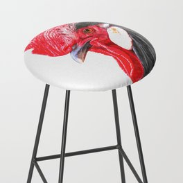 Rooster Portrait Bar Stool