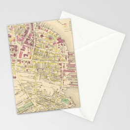 Vintage Map of Portsmouth NH (1892) Stationery Cards