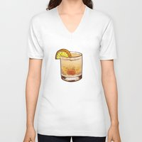 drink V-neck T-shirts featuring DRINK  by MR. VELA