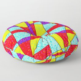 Abstract Explosion Floor Pillow