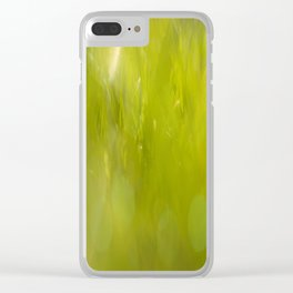 the closest green Clear iPhone Case
