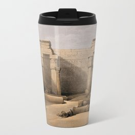 Ruins at Medinet Abou, Thebes, Egypt Travel Mug