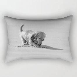 Alfie the Dachshund in Bnw Rectangular Pillow