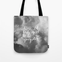 gangster Tote Bags featuring Gangster by shelby | gordon