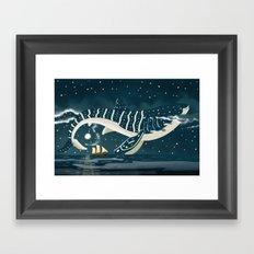 Sky Whale Shark Framed Art Print