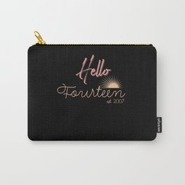 Hello Fourteen Est. 2007 Daughter Birthday Gift Carry-All Pouch
