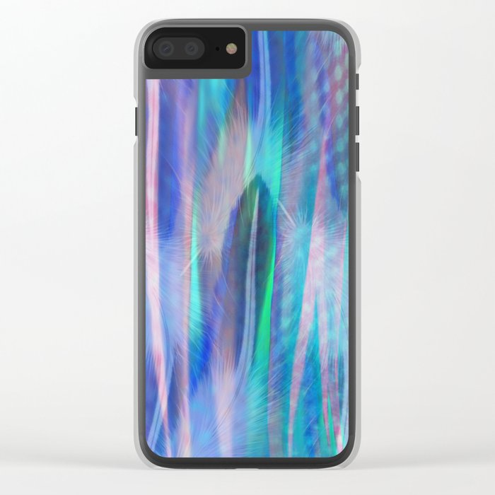 Feathers and Tulle Clear iPhone Case