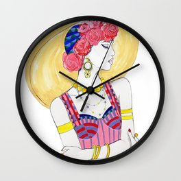 Fashion Illustration - Summer Wall Clock