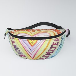 Rainbow Heart Colorful What Cancer Cannot Do Poem Fanny Pack