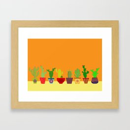 Cactus in Orange Framed Art Print