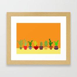 Cactus in Orange Framed Art Print