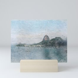 Rio de Janeiro - WaterColor Mini Art Print