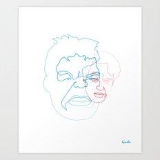 One Line Hulk/Banner Art Print