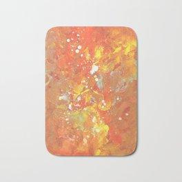Orange Galaxy Fire Bath Mat