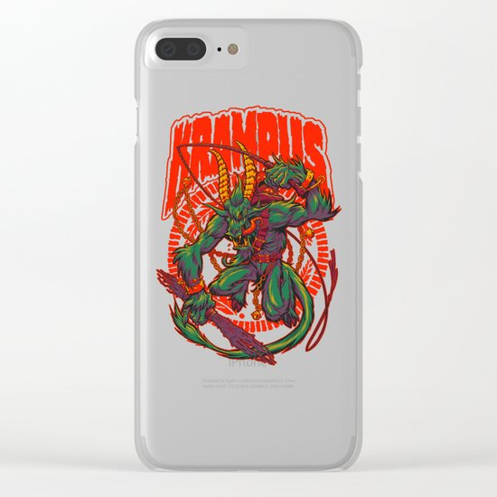KREEPING KRAMPUS Clear iPhone Case