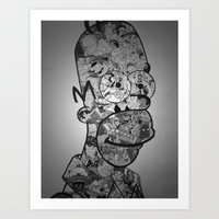 homer Art Prints featuring Homer by Drew Kochell