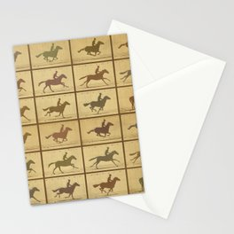 Time Lapse Motion Study Horse muted Stationery Cards