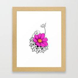 Mandala rose Framed Art Print